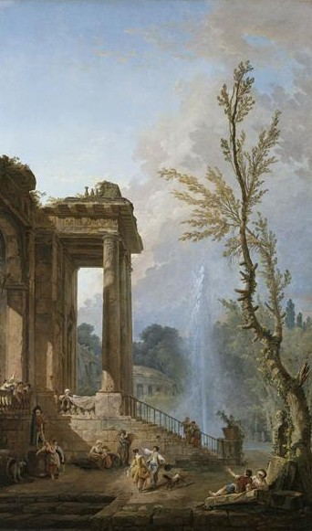 The Portico of a Country Mansion. Hubert Robert.