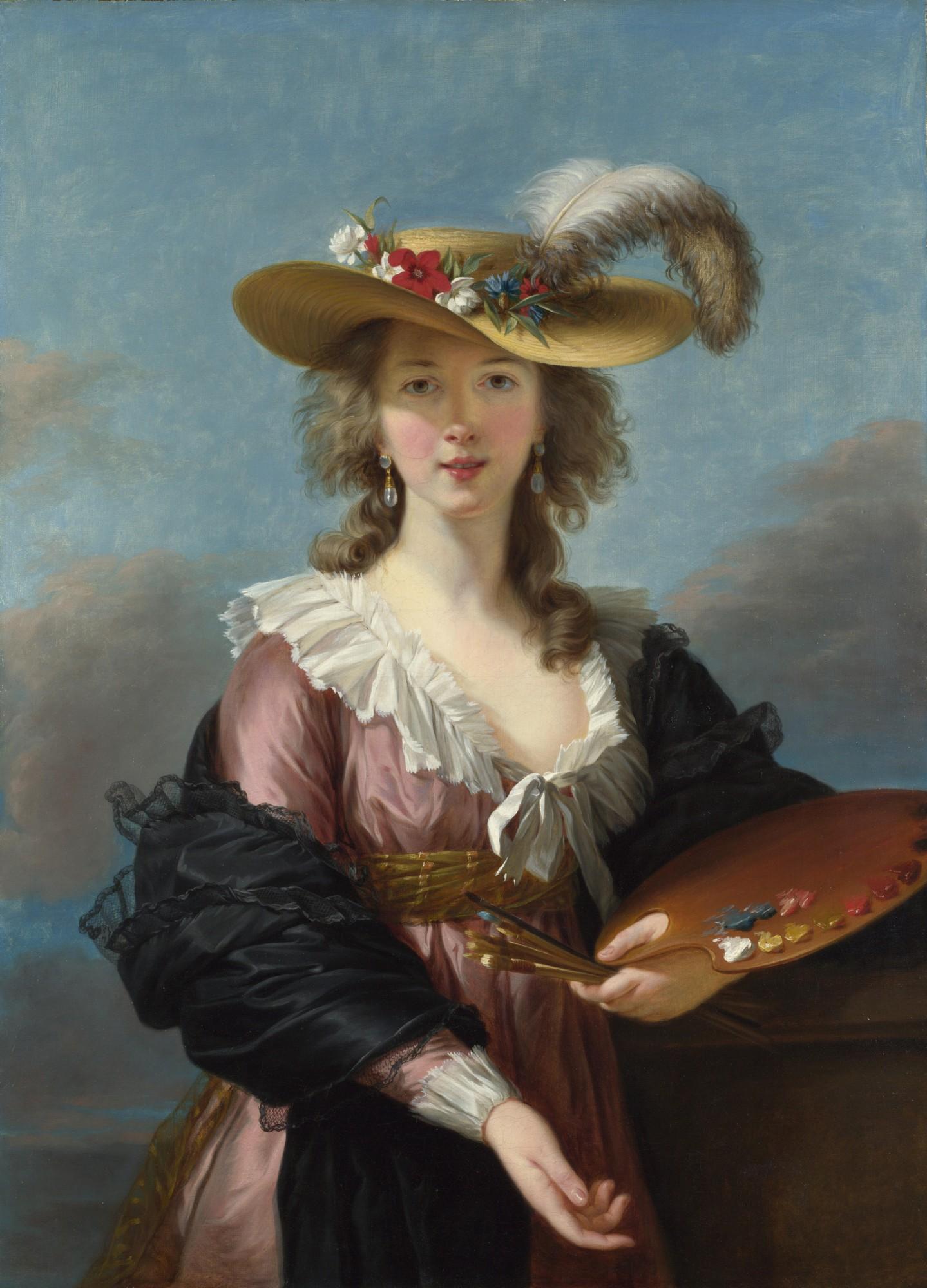 copie Self portrait Elisabeth Vigée-Lebrun